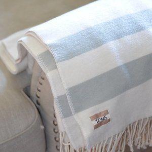 TOMS for Target Fleece Tassel Blanket